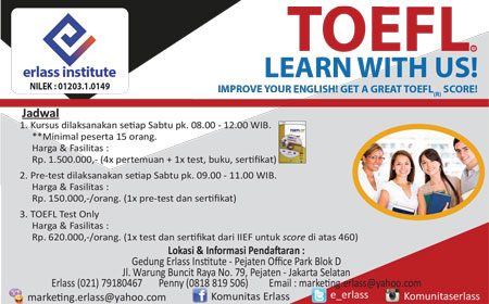 TOEFL : Learn with Us!